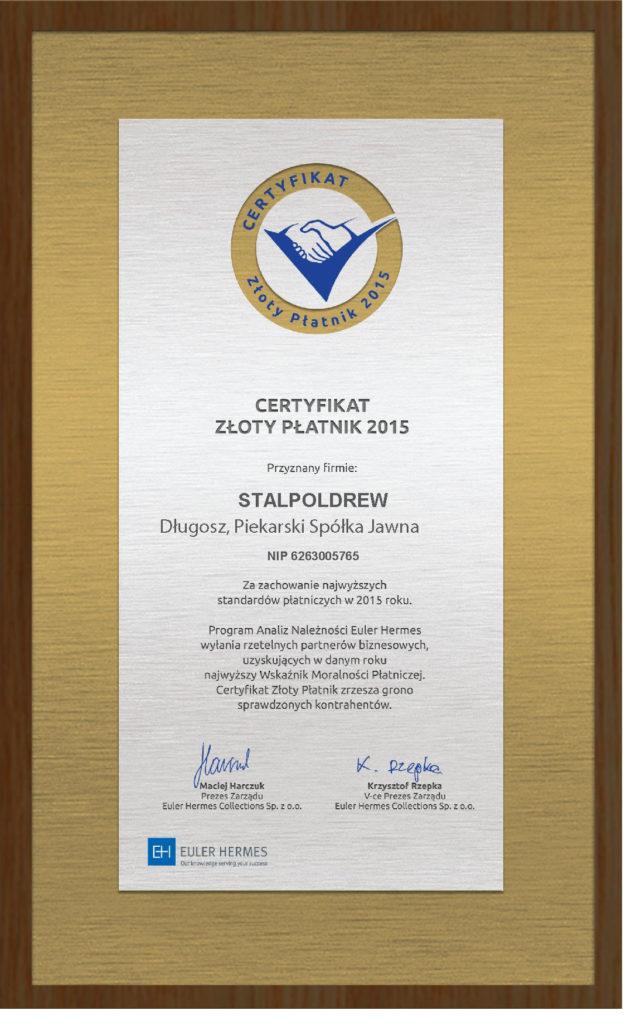 Certyfikat_ZłotyPłatnik2015_pl